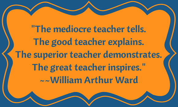 Inspiration quote about great teachers