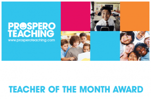 Current Teacher of the Month Award