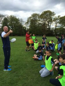 Fortismere Year 8s in Rugby Sessions with Prospero Teaching's Gareth thomas