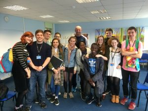 Prospero Teaching's Gareth Thomas With Some Fortismere Year 12 Students