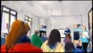 Art Teacher Maria's Rendition of our BfL CPD Event